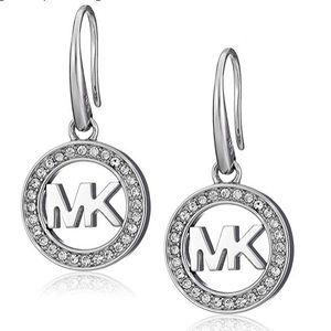 NWT Michael Kors Signature Pave Drop Earrings